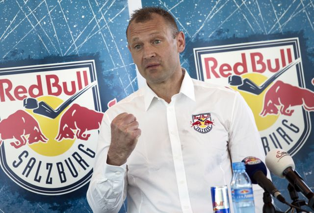 SALZBURG,AUSTRIA,06.JUN.14 - ICE HOCKEY -  EBEL, Erste Bank Eishockey Liga. EC Red Bull Salzburg, press conference. Image shows head coach Daniel Ratushny (EC RBS). Photo: GEPA pictures/ Felix Roittner - For editorial use only. Image is free of charge. GEPA pictures/ Felix Roittner