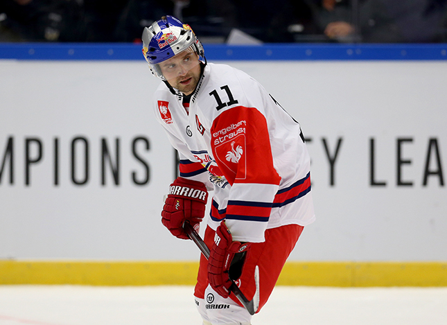 JOENKOEPING,SWEDEN,24.AUG.14 - ICE HOCKEY - CHL, Champions Hockey League, group stage, HV71 Joenkoeping  vs EC Red Bull Salzburg. Image shows Ben Walter (EC RBS). Photo: GEPA pictures/ Daniel Goetzhaber - For editorial use only. Image is free of charge. GEPA pictures/ Daniel Goetzhaber